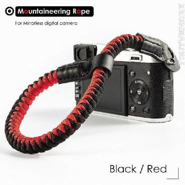 Alpinisme nylon corde appareil photo poignet dragonne ceintu