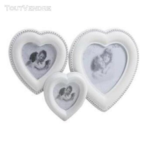 Cadre photo mural en forme de coeur