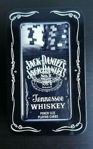 Coffret métal poker cartes et jetons jack daniel's old