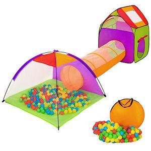 Tente igloo pour enfants avec tunnel tente de jeu + 200