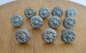 Anciens boutons poignees bronze chrome pour tiroir commode