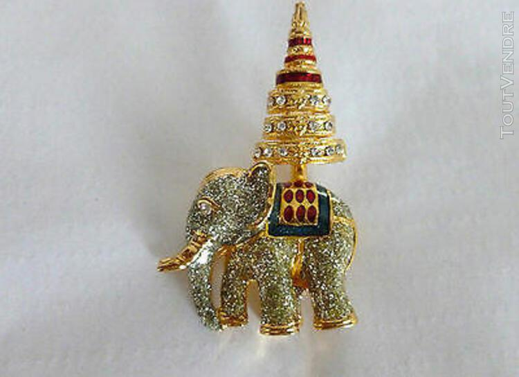 Broche fantaisie - petit éléphant doré (1512103)