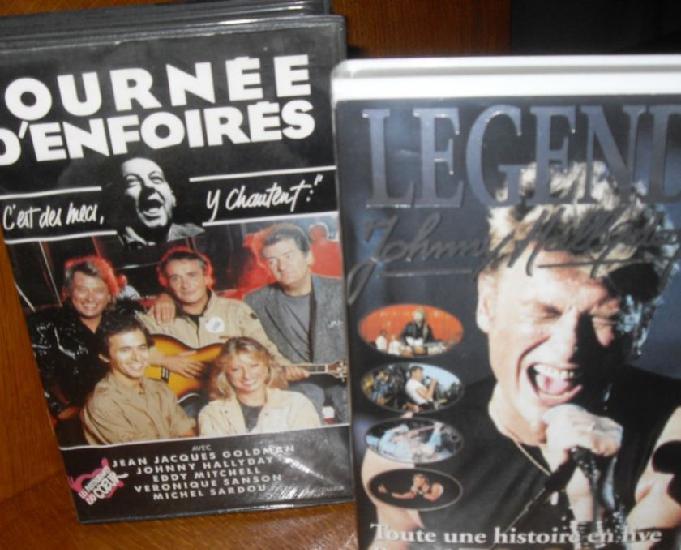 Cassettes vidéos vhs..johnny hallyday