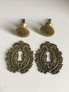 Entrees serrure et boutons anciens empire bronze