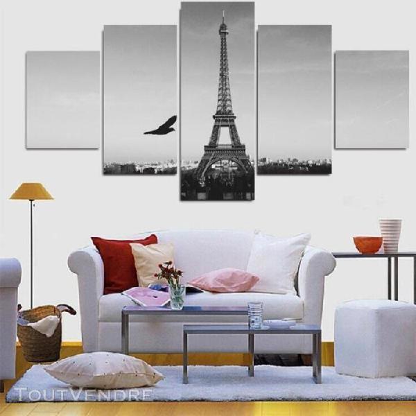 5 pieces modern home decor image peinture noir et blanc tour