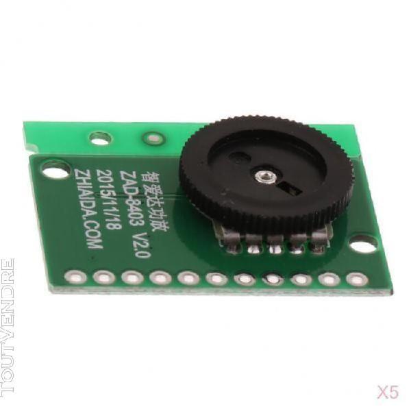 5x 3w + 3w module de carte d'amplificateur numérique de