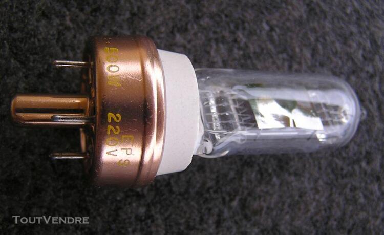 Ampoule halogène 500w/220v rétroprojecteurs 3m