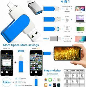 Clé usb pour iphone ipad 32 go, qarunt 4 en 1 3.0 mémoire