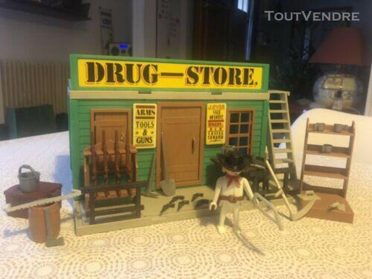 Maison drugstore western playmobil 3462 3424