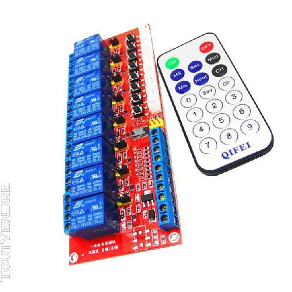 Module de relais 8 canaux panneau de contrôle