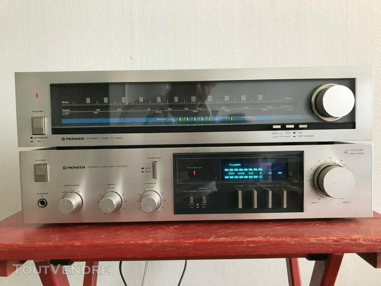 Pioneer sa-520 stereo integrated amplifier + tuner tx-520l b