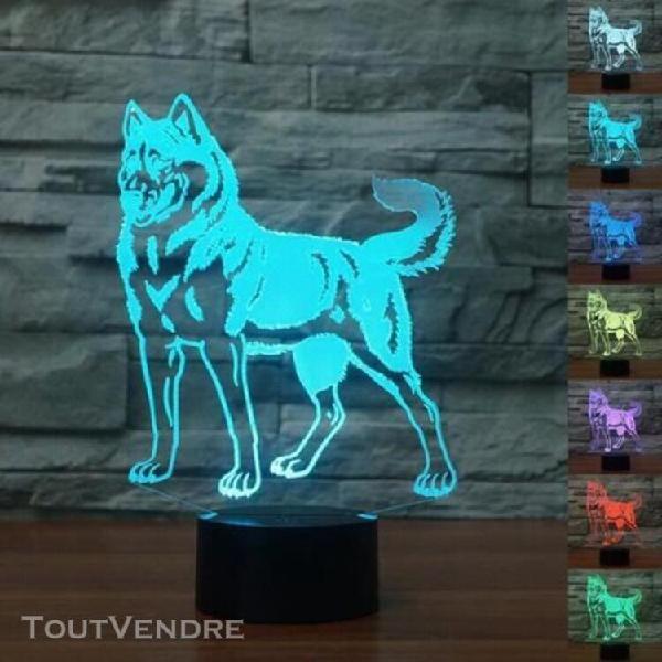 3d doberman nuit lumière led tactile belle chien lampe de