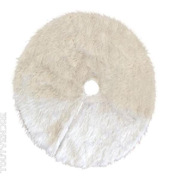 Couverture nappe accessoire décoration sapin de noël blanc