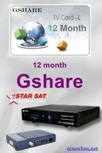 Recharge g-share 12 mois starsat -echolink-pinacle-qviat -
