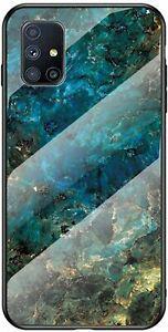 Coque avec samsung galaxy m51 en verre galaxy m51, émeraude