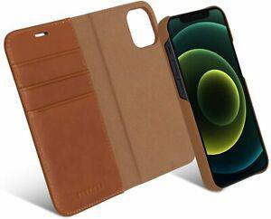 Coque iphone 12 mini case cuir marron - 12 mini, 12