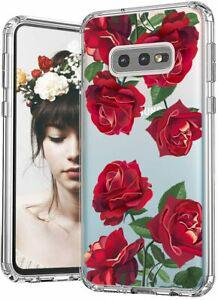 Mosnovo coque galaxy s10e, roses rouges floral flower