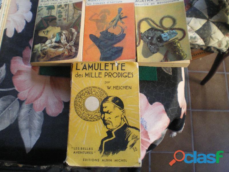 Romans policiers Agatha Christie et W. Heichen. L'amulette des mille prodiges.