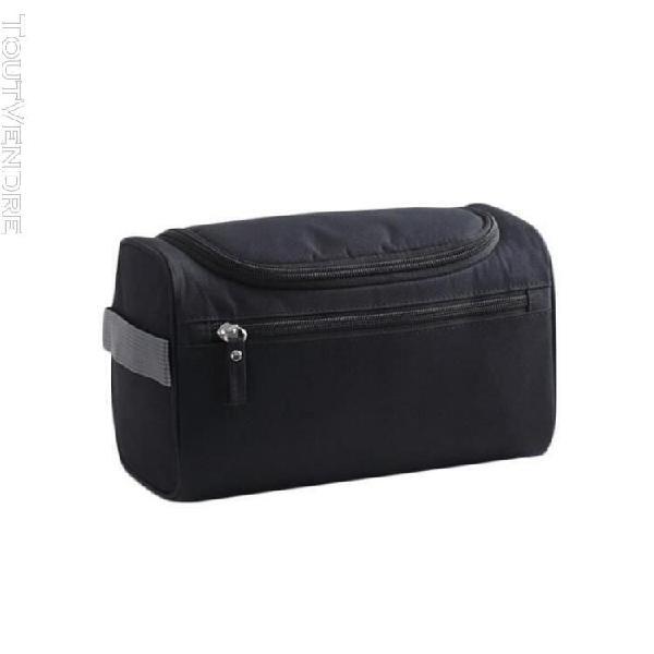 Trousse sac de rangement en nylon imperméable pour hommes,