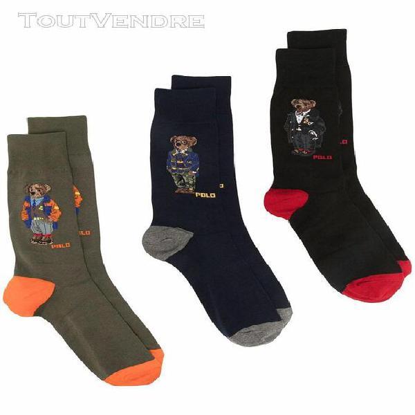 Ralph lauren homme 449824757001 bleu coton chaussettes