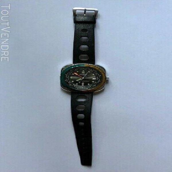 Montre rare / watch, sicura modèle vintage globetrotter
