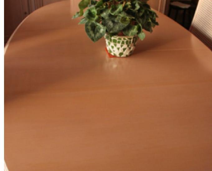 Table ovale hêtre cérusé 186 x110cm 68 personnes +