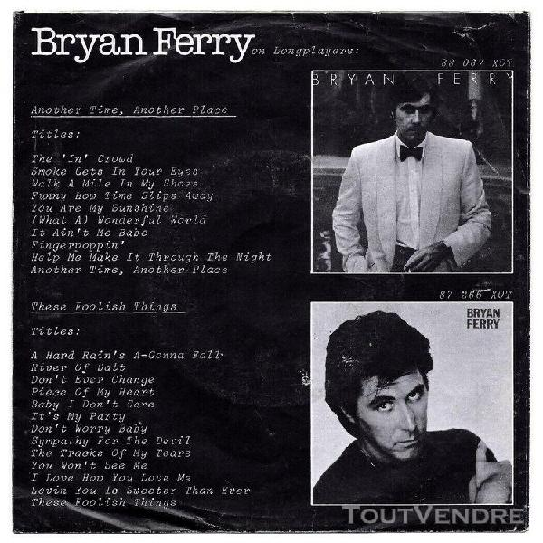 Bryan ferry -45t- let's stick together-island