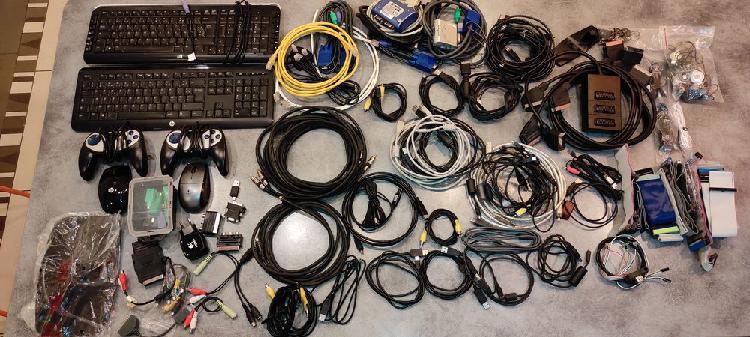 Divers fiches et câbles raccordements pc occasion, grasse