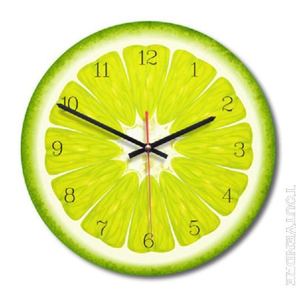 Vendre chaude] fruit forme acrylique horloge murale ronde 2