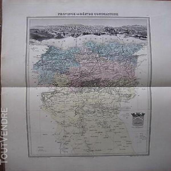 Carte ancienne province ou dpt de constantine