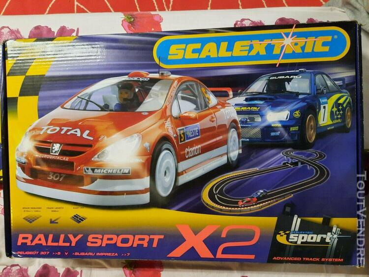 Circuit scalextric rally sport x2 + compte tour
