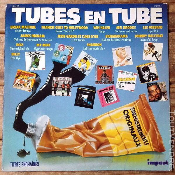Tubes en tube -lp- van halen-inxs-james ingram-johnny hallyd