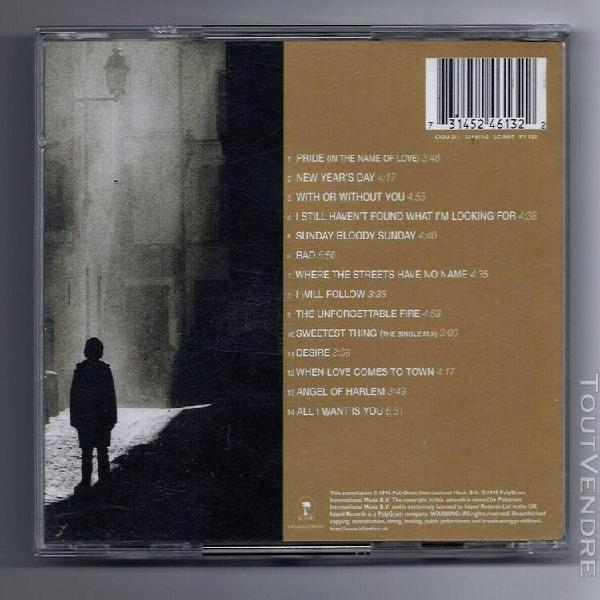 U2 -cd-the best of 1980-1990-pride-with or without you-sunda