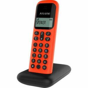 Alcatel téléphone fixe d285 solo rouge sans fil dect solo