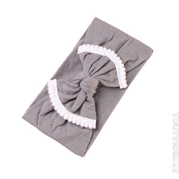 Arc noeud bandeau nylon bandeau fille turban bébé bandeau