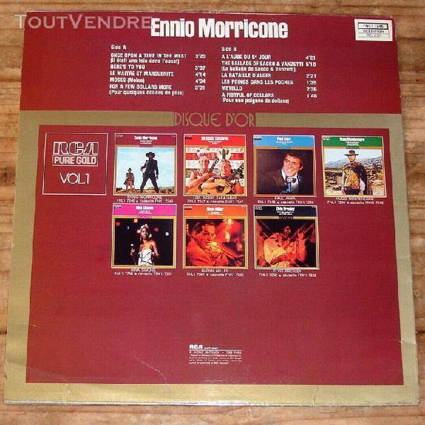Ennio morricone pure gold-lp-disque d'or-il etait une fois