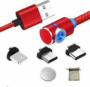 Magnétique câble usb chargeur avec led l usb type c micro