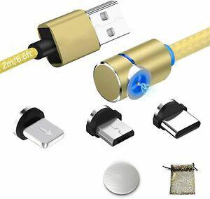 Magnétique câble usb chargeur avec led micro usb type c