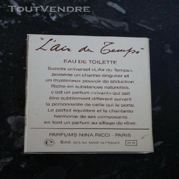 Miniature de parfum l'air du temps nina ricci eau de toilett