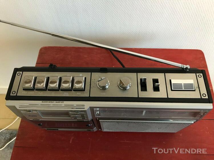 Philips d7419 magnétophone à cassettes radio vintage en
