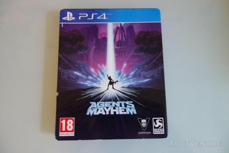 Agents of mayhem steelbook / playstation 4 ps4 / complet / p