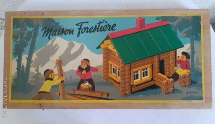Jeujura maison forestière jeu de construction vintage jura