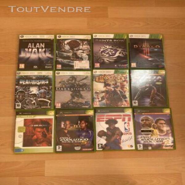 Lot jeux videos xbox et xbox 360