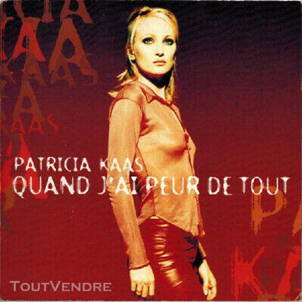 Patricia kaas - quand j'ai peur de tout - cd single cardslee