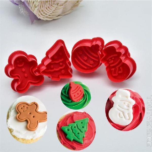 4 pièces timbre biscuit moule 3d cookie plongeur cutter