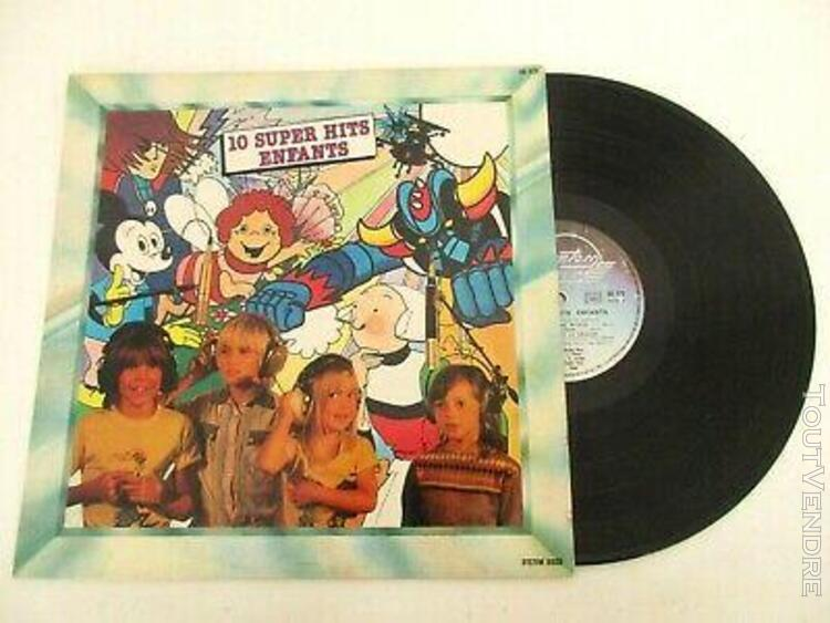 Disque vinyle 33t - 10 super hits enfants - goldorak albator