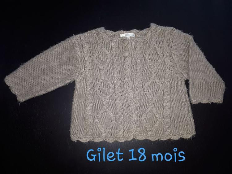 Gilet bébé 18 mois occasion, questembert (56230)