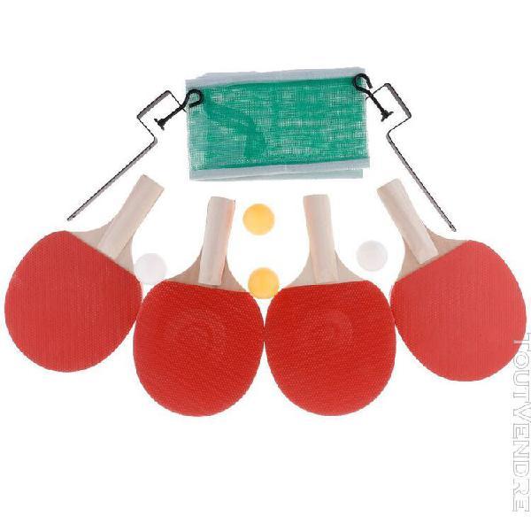 Ensemble complet de tennis de table double vitesse de colle