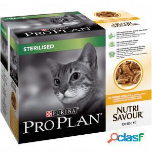 Pro plan nutrisavour sterilised pâtée pour chat au poulet (85 g) 10 x 85g