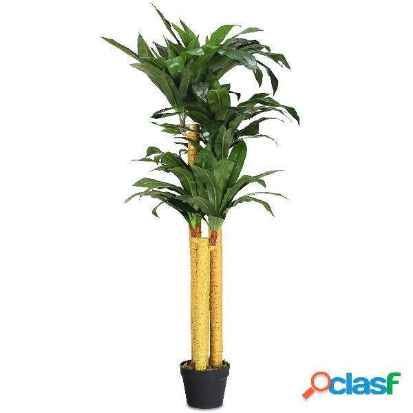 Costway plante artificielle avec pot en tissu de polyester pour la décoration de salles de séjour clôtures boîtiers escalier couloir